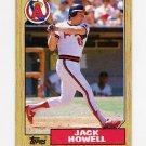 1987 Topps Baseball #422 Jack Howell - California Angels