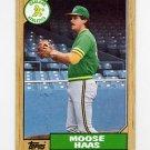 1987 Topps Baseball #413 Moose Haas - Oakland A's