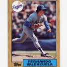 1987 Topps Baseball #410 Fernando Valenzuela - Los Angeles Dodgers NM-M