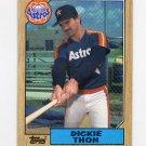 1987 Topps Baseball #386 Dickie Thon - Houston Astros NM-M