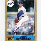 1987 Topps Baseball #385 Orel Hershiser - Los Angeles Dodgers