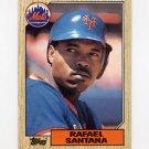 1987 Topps Baseball #378 Rafael Santana - New York Mets