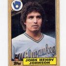 1987 Topps Baseball #377 John Henry Johnson - Milwaukee Brewers