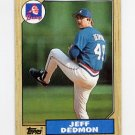 1987 Topps Baseball #373 Jeff Dedmon - Atlanta Braves