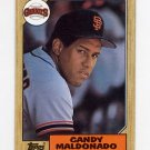 1987 Topps Baseball #335 Candy Maldonado - San Francisco Giants