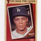 1987 Topps Baseball #315 Maury Wills TBC '62 - Los Angeles Dodgers