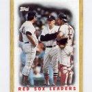 1987 Topps Baseball #306 The Boston Red Sox Team Leaders / Tom Seaver