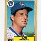 1987 Topps Baseball #279 Dan Plesac - Milwaukee Brewers