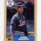 1987 Topps Baseball #277 Juan Agosto - Minnesota Twins