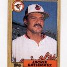1987 Topps Baseball #276 Jackie Gutierrez - Baltimore Orioles NM-M