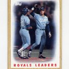 1987 Topps Baseball #256 Kansas City Royals Team Leaders / George Brett NM-M