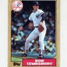 1987 Topps Baseball #254 Bob Tewksbury RC - New York Yankees