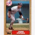 1987 Topps Baseball #239 Juan Espino - New York Yankees