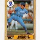 1987 Topps Baseball #223 Charlie Leibrandt - Kansas City Royals