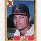 1987 Topps Baseball #221 Vern Ruhle - California Angels