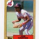 1987 Topps Baseball #220 Joe Carter - Cleveland Indians