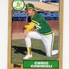 1987 Topps Baseball #217 Chris Codiroli - Oakland A's