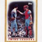 1987 Topps Baseball #206 Minnesota Twins Team Leaders / Frank Viola / Tim Laudner
