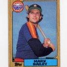 1987 Topps Baseball #197 Mark Bailey - Houston Astros NM-M