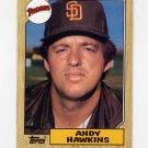 1987 Topps Baseball #183 Andy Hawkins - San Diego Padres