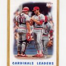 1987 Topps Baseball #181 St. Louis Cardinals Team Leaders
