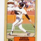 1987 Topps Baseball #180 Chris Brown - San Francisco Giants