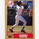 1987 Topps Baseball #174 Henry Cotto - New York Yankees