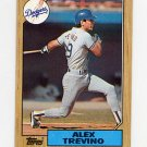 1987 Topps Baseball #173 Alex Trevino - Los Angeles Dodgers