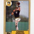 1987 Topps Baseball #164 Sammy Khalifa - Pittsburgh Pirates