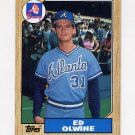 1987 Topps Baseball #159 Ed Olwine - Atlanta Braves