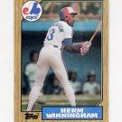 1987 Topps Baseball #141 Herm Winningham - Montreal Expos