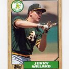 1987 Topps Baseball #137 Jerry Willard - Oakland A's