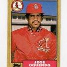 1987 Topps Baseball #133 Jose Oquendo - St. Louis Cardinals