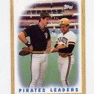 1987 Topps Baseball #131 Pittsburgh Pirates Team Leaders / Sid Bream / Tony Pena