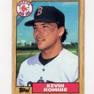 1987 Topps Baseball #121 Kevin Romine - Boston Red Sox