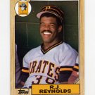 1987 Topps Baseball #109 R.J. Reynolds - Pittsburgh Pirates