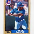 1987 Topps Baseball #104 Billy Sample - Atlanta Braves