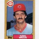 1987 Topps Baseball #101 Carl Willis RC - Cincinnati Reds