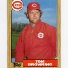 1987 Topps Baseball #065 Tom Browning - Cincinnati Reds