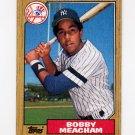 1987 Topps Baseball #062 Bobby Meacham - New York Yankees