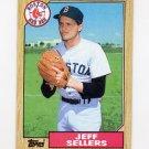 1987 Topps Baseball #012 Jeff Sellers - Boston Red Sox NM-M