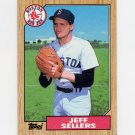1987 Topps Baseball #012 Jeff Sellers - Boston Red Sox Ex