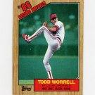 1987 Topps Baseball #007 Todd Worrell RB - St. Louis Cardinals Ex