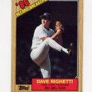 1987 Topps Baseball #005 Dave Righetti RB - New York Yankees