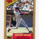 1987 Topps Baseball #003 Dwight Evans RB - Boston Red Sox