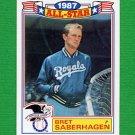 1988 Topps Baseball Glossy All-Stars #10 Bret Saberhagen - Kansas City Royals