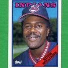 1988 Topps Baseball #758 Eddie Williams RC - Cleveland Indians