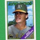 1988 Topps Baseball #641 Rick Honeycutt - Oakland A's