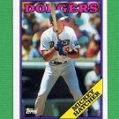 1988 Topps Baseball #607 Mickey Hatcher - Los Angeles Dodgers