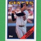 1988 Topps Baseball #602 Mike Aldrete - San Francisco Giants